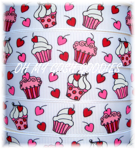 * 100 YARD ROLL SALE * 7/8 PEPPERMINT CUPCAKE KISSES