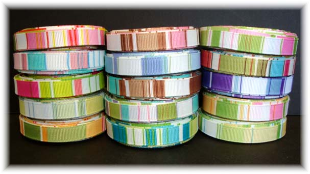 3/8 VERTICAL STRIPE RIBBON MIX - 15 YARDS