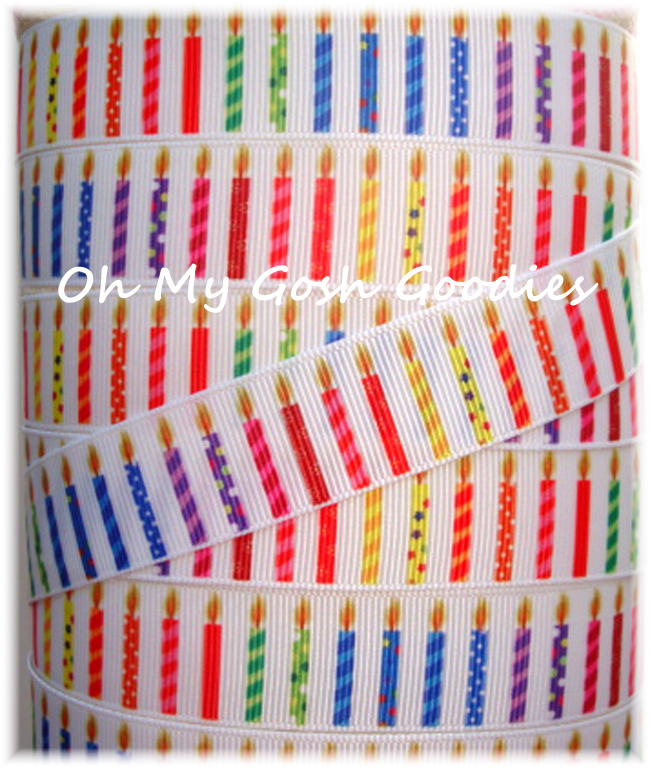 7/8 BIRTHDAY SURPRISE CANDLES - 5 YARDS