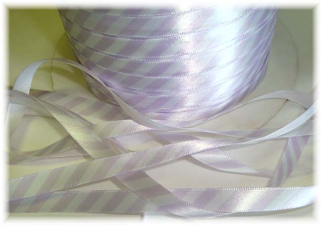 3/8 LAVENDER SATIN DIAGONAL STRIPE VENUS - 5 YARDS