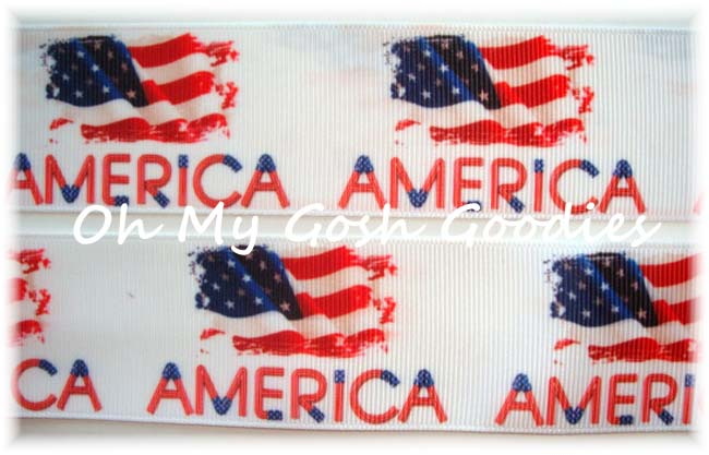 1.5 * AMERICA * PATRIOTIC RIBBON - 5 YARDS