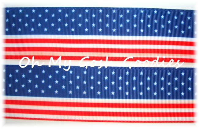 1.5 * FLAG *  PATRIOTIC RIBBON - 5 YARDS