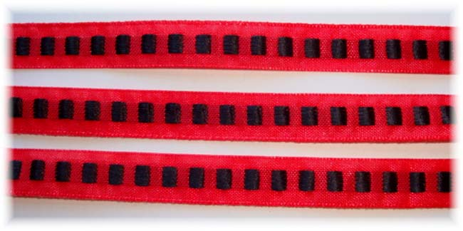3/8 SALE RED BLACK SQUARES - 5 YARDS