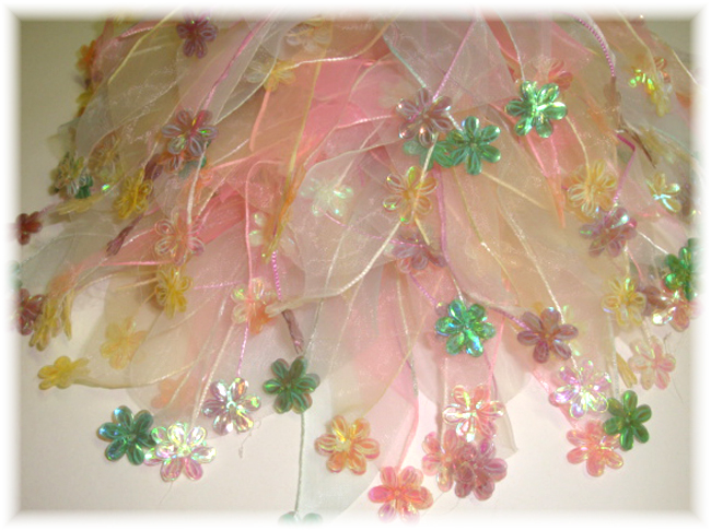 3PC PONY-O PASTEL FLOWER SPANGLE EMBELLISHMENTS PS32