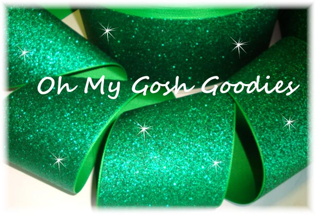 "3"" * SUPER SPARKLE * GLITTER SOLID CHEER GREEN - 5 YARDS"
