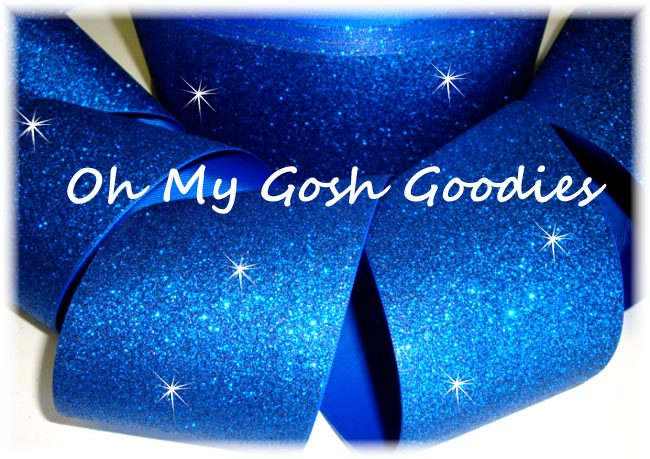 "3"" OOAK * SUPER SPARKLE * GLITTER SOLID CHEER ROYAL -  2 7/8 YARDS"