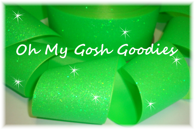 "3"" OOAK * SUPER SPARKLE * GLITTER SOLID CHEER NEON LIME - 4 YARDS"