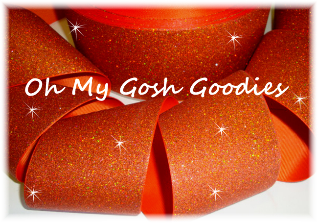 "3"" OOAK * SUPER SPARKLE * GLITTER SOLID CHEER ORANGE -  2 2/3 YARDS"