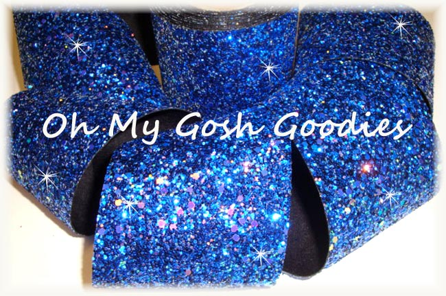 "3"" * CHUNKY * GLITTER SPARKLE ROYAL - 5 YARDS"