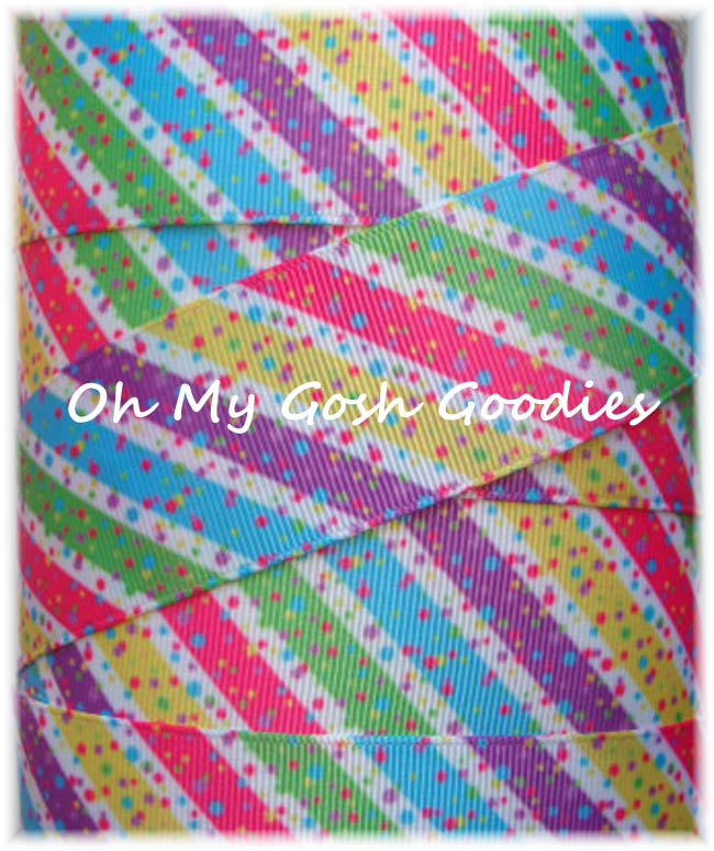 7/8 CANDYLAND DIAGONAL STRIPE - 5 YARDS