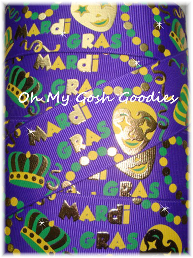 1.5 MARDI GRAS PARTY FOIL BLING - 5 YARDS
