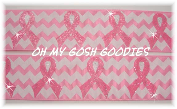 1.5 OOAK GLITTER AWARENESS CHEVRON - 4 YARDS