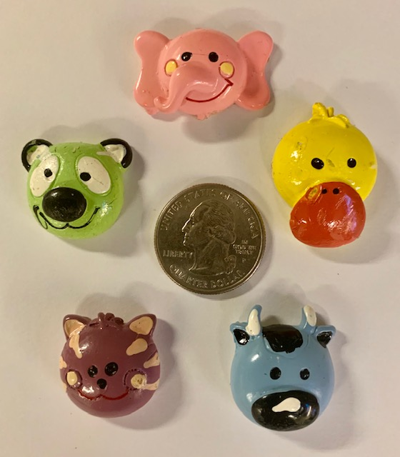 5PC ASSORTED ANIMAL RESINS