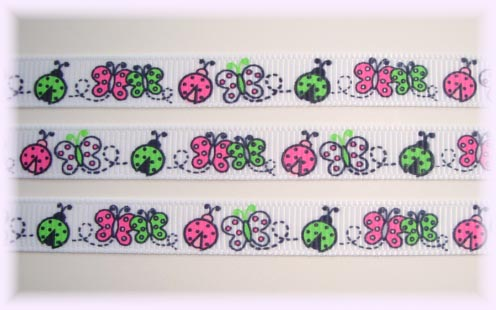3/8 GARDEN FRIENDS LADYBUGS - 5 Yards