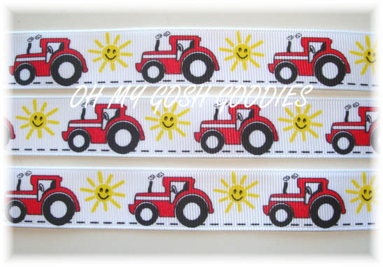 7/8 BIG RED TRACTOR - 5 YARDS