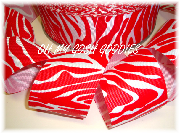 2 1/4 VALENTINE RED WHITE ZEBRA - 5 YARDS