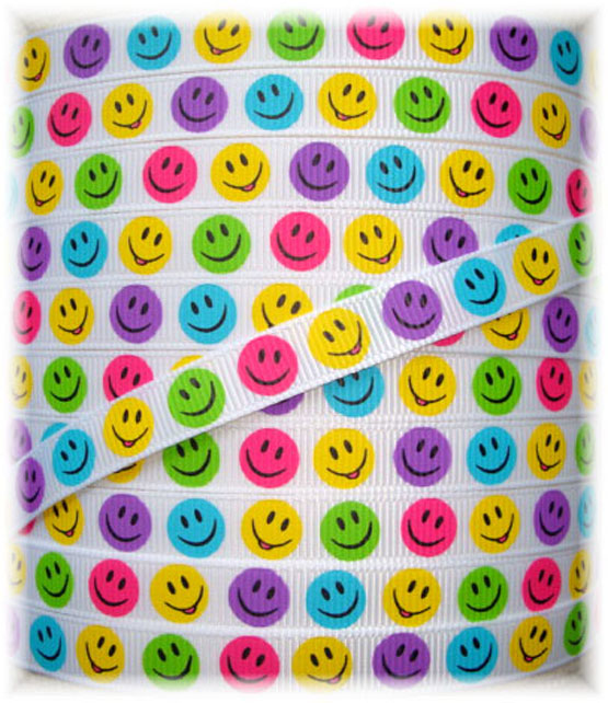 3/8  OOAK SMILEY FACE REMNANTS WHITE - 6 YARDS