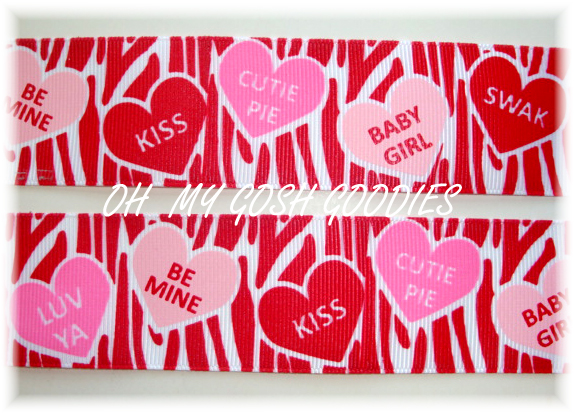 1.5 FUNKY VALENTINE RED ZEBRA - 5 YARDS