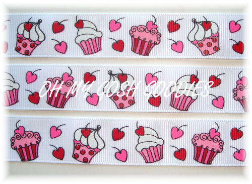 7/8 PEPPERMINT CUPCAKE KISSES -   5 YARDS
