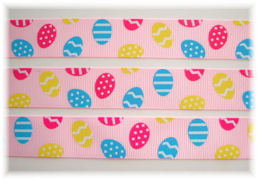 7/8 OH SO CLASSIC EGGS PINK - 5 YARDS