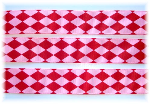 7/8 RED PINK JESTER - 5 YARDS