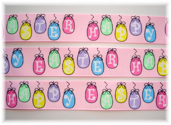 7/8 HAPPY EASTER HANGING EGGS 5 Yards