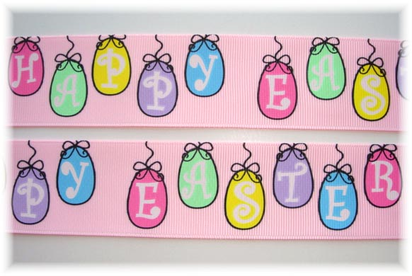 1.5 HAPPY EASTER HANGING EGGS 5 Yards