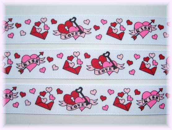 7/8 VALENTINE LOVE LETTERS 5 Yards