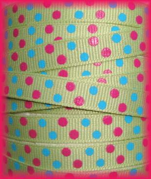 3/8 SALE CUSTOM PIN DOTS  - 5 YARDS