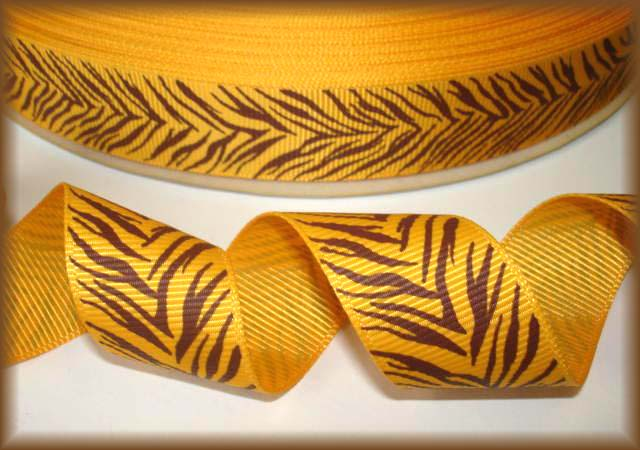 7/8 TIGER STRIPES YELLOW GOLD  - 5 YARDS