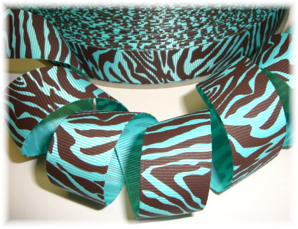 7/8 AQUA  WILD ONE ZEBRA - 5 YARDS