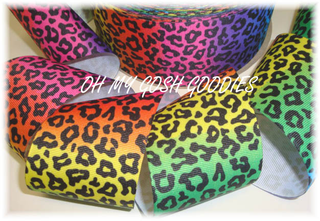 2 1/4 OOAK RAINBOW LEOPARD - 5 1/2 REMNANT YARDS