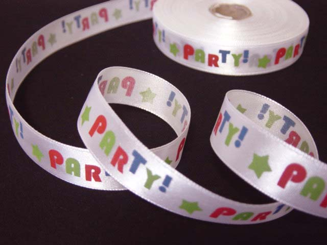 5/8 OOAK PARTY SATIN RIBBON - 8 YARDS