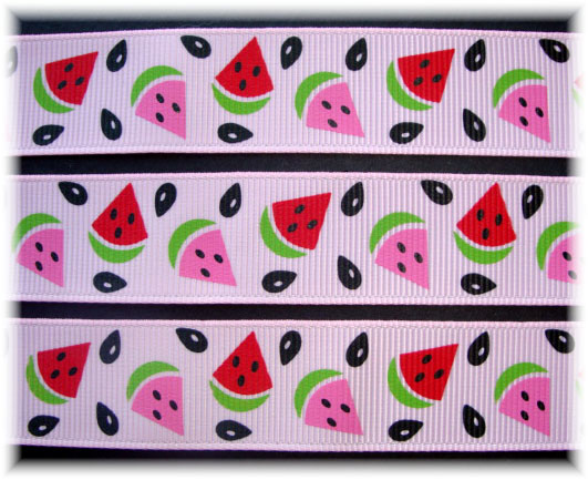 7/8 WATERMELON PICNIC PINK - 5 YARDS