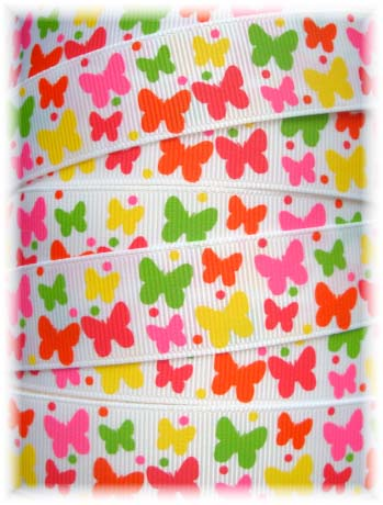 7/8 SOCIAL BUTTERFLY BABIES WHITE - 5 YARDS