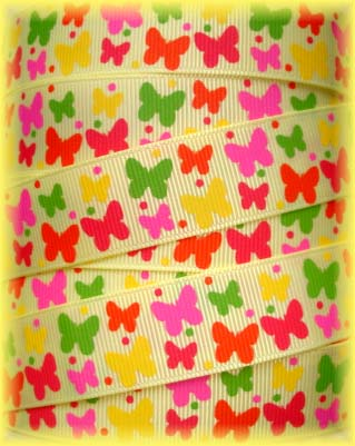 7/8 SOCIAL BUTTERFLY BABIES YELLOW - 5 YARDS