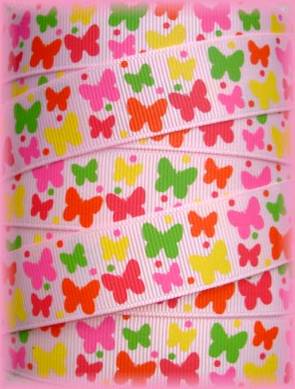 7/8 SOCIAL BUTTERFLY BABIES PINK - 5 YARDS