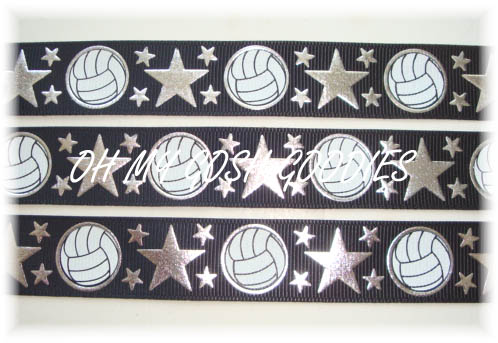 7/8 OOAK IRREGULAR VOLLEYBALL STAR BLACK - 5  YARDS
