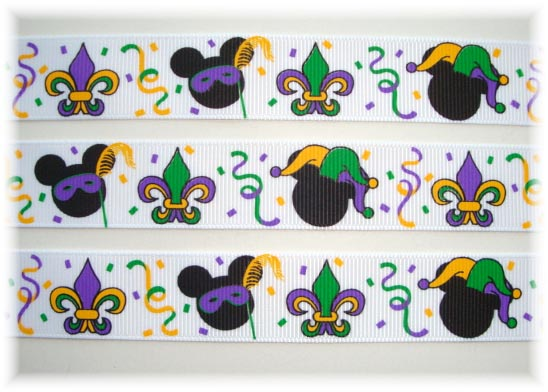 7/8 MARDI GRAS MINNIE MICKEY - 5 YARDS