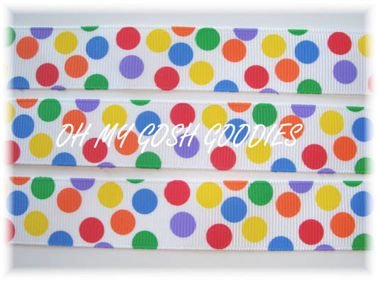 7/8 PRIMARY BUBBLE POP DOTS - 5 YARDS