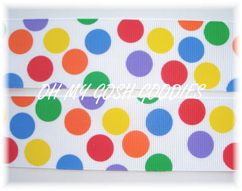 1.5 PRIMARY BUBBLE  DOTS - 5 YARDS