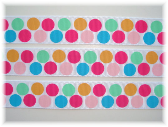7/8 POPSICLE PARTY DOTS - 5 YARDS