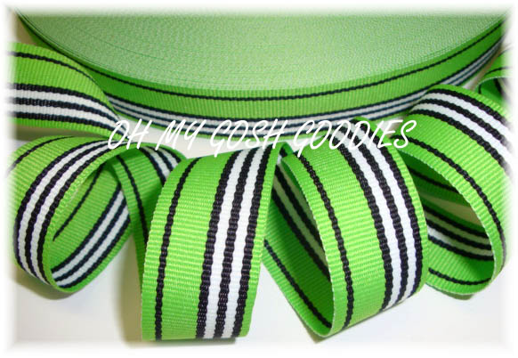 7/8 LIME BLACK CLASSIC STRIPE - 5  YARDS