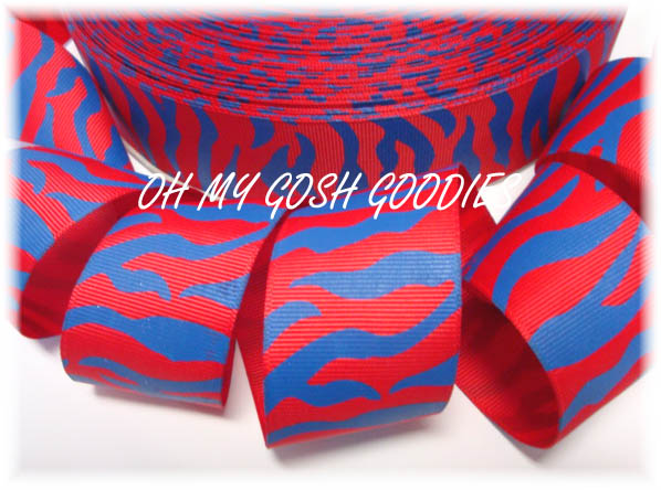 1.5 RED / ROYAL ZEBRA - 5 YARDS