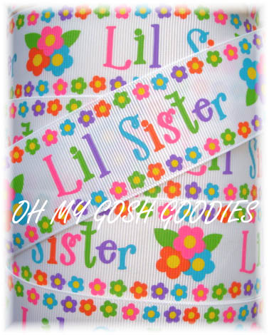 1.5 LITTLE SISTER FLOWERS RIBBON - 5 YARDS