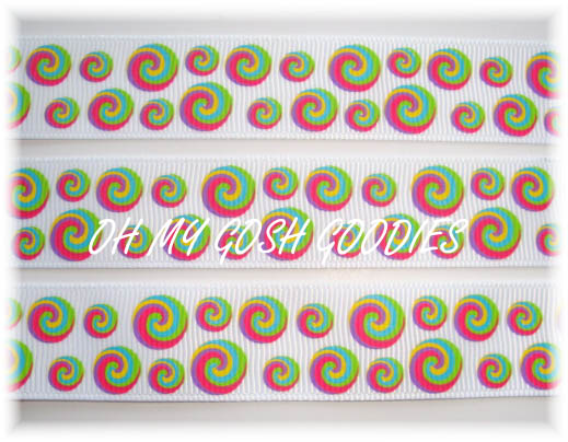 7/8 LOLLIPOP LOVE DOTS - 5 YARDS