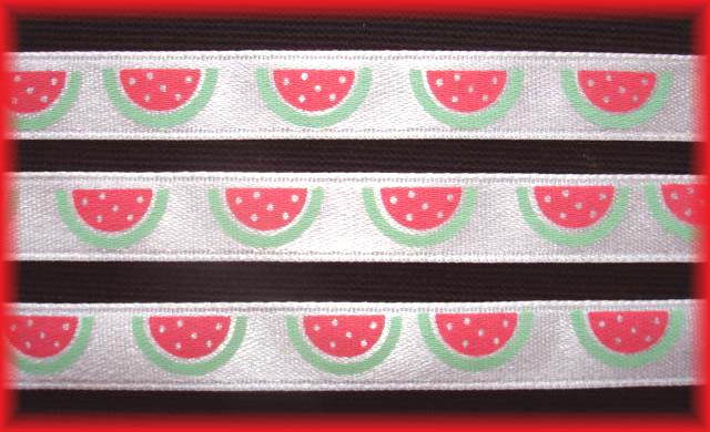 3/8 SALE SATIN WATERMELONS - 5 YARDS