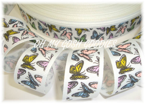 7/8 VINTAGE BUTTERFLY PASTEL - 5 YARDS