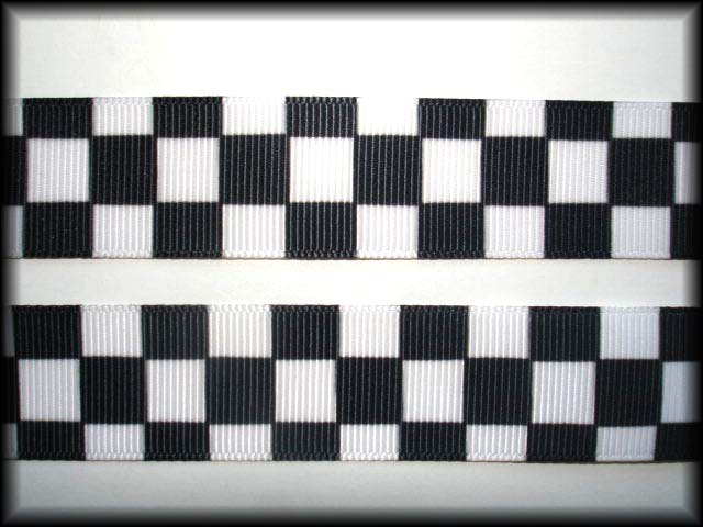 7/8 OOAK NASCAR BLACK WHITE CHECK - 5 1/4 YARDS