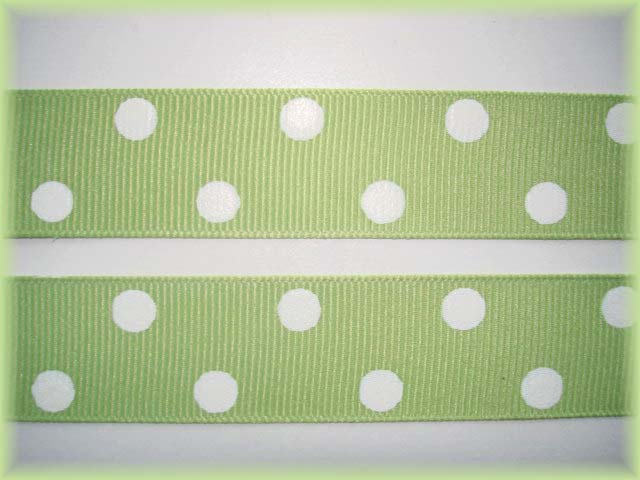7/8 OFFRAY LIME JUICE CLASSIC POLKA DOTS - 5 YARDS